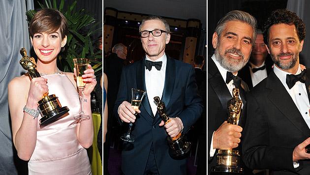 So feierten die Oscar-Stars nach der großen Gala (Bild: AFP)
