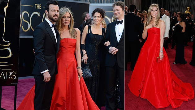 """Aniston über Kleid: """"Man kann leicht zur Toilette gehen"""" (Bild: EPA, AP)"""