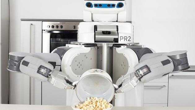 Lernfähiger Roboter macht Popcorn und Palatschinken (Bild: Universität Bremen)