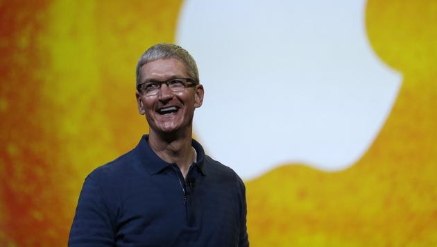 """Apple-Chef Cook kündigt """"große Pläne"""" für 2014 an (Bild: AP)"""
