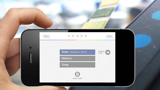 Urintest-App für das iPhone erkennt 25 Krankheiten (Bild: Screenshot, uchek.in)