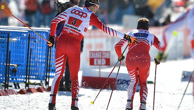 Denifl/Gruber holen hinter Frankreich WM-Silbermedaille (Bild: APA/BARBARA GINDL)