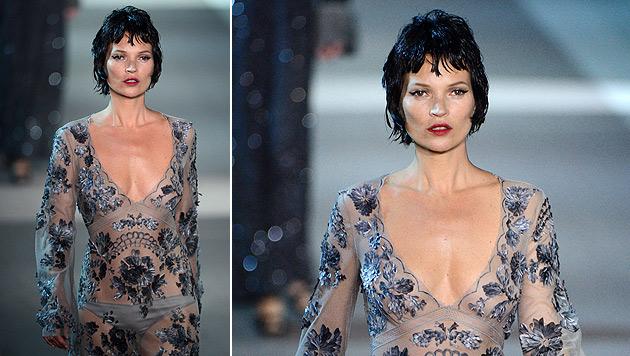 Kate Moss sexy im Kampf gegen Brustkrebs (Bild: AFP)