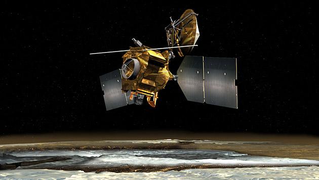 "Künstlerische Illustration des ""Mars Reconnaissance Orbiter"" (Bild: NASA/JPL-Caltech)"
