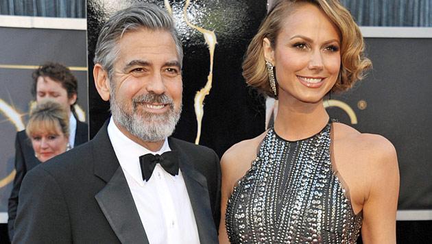 Stacy Keibler hat die Nase voll von George Clooney (Bild: AP)