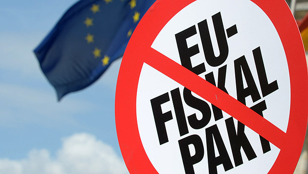 Verfassungsklage der Opposition gegen Fiskalpakt (Bild: dpa/Rainer Jensen)