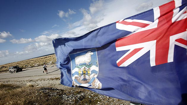Argentiniens Pr�sident beansprucht Falklandinseln (Bild: EPA)