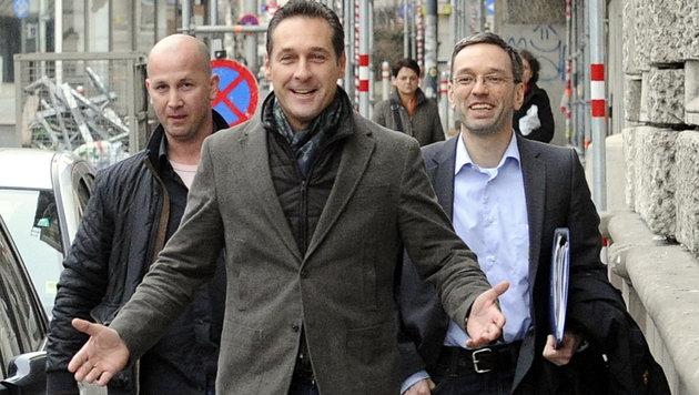 "FP-Präsidium tagte: ""Müssen stark und geschlossen sein"" (Bild: APA/HERBERT PFARRHOFER)"