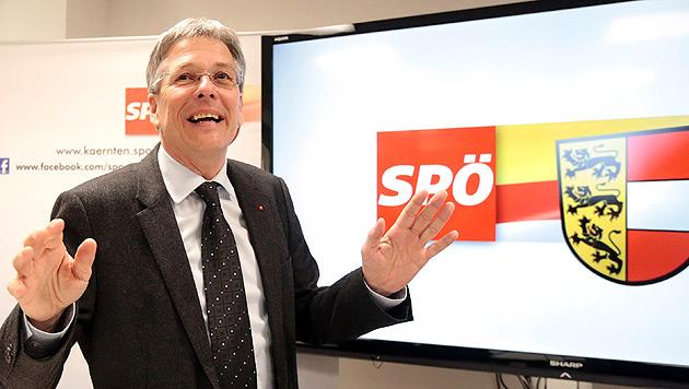 """""""Wir haben gezeigt, dass wir die Partei auf Gemeindeebene sind"""": SPÖ-Landeshauptmann Peter Kaiser (Bild: APA/GERT EGGENBERGER)"""