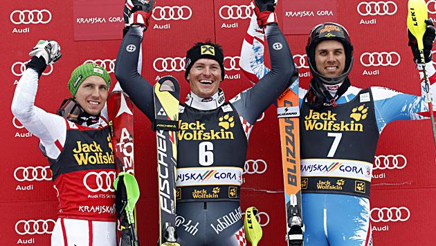 Kostelic gewinnt Slalom, Hirscher den Slalom-Weltcup (Bild: AP)