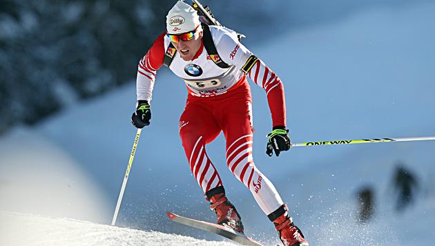 ÖSV-Biathlon-Team in Sotschi ohne Chance - nur Platz 8 (Bild: APA/BARBARA GINDL)
