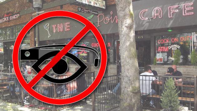 Bar verbietet das Tragen von Googles Datenbrille Glass (Bild: The 5 Point Cafe)
