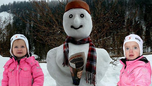 Schicken Sie uns Fotos von Ihrem Schneemann! (Bild: Markus Schützer)
