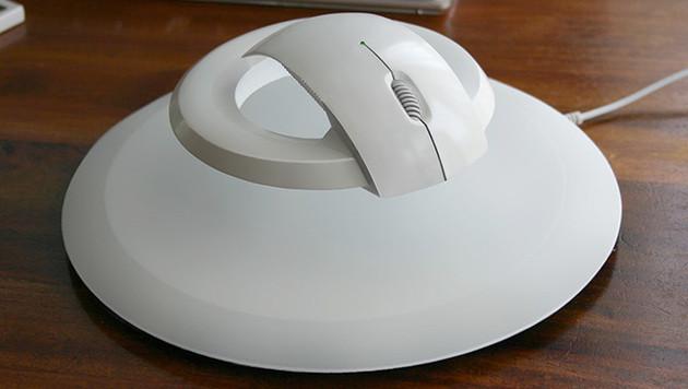 Schwebende Maus soll Handgelenk entlasten (Bild: © 2013 KIBARDINDESIGN)