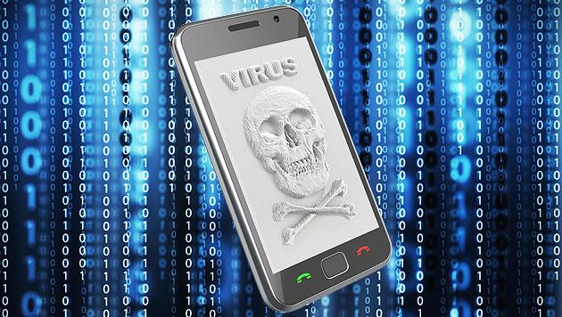 Bedrohung durch Handyviren wird immer größer (Bild: thinkstockphotos.de, krone.at-Grafik)