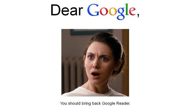 Fans wehren sich: Google will RSS-Reader einstellen (Bild: bringgooglereaderback.com/)