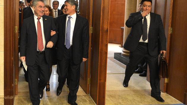 """""""Türöffner"""" Heinz Fischer stattet Kirgistan Besuch ab (Bild: APA/HARALD SCHNEIDER)"""