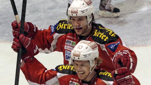 KAC und Capitals kämpfen im Finale um den Titel (Bild: APA/GERT EGGENBERGER)