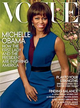"""Michelle Obama posiert zum zweiten Mal für die """"Vogue"""" (Bild: AP)"""