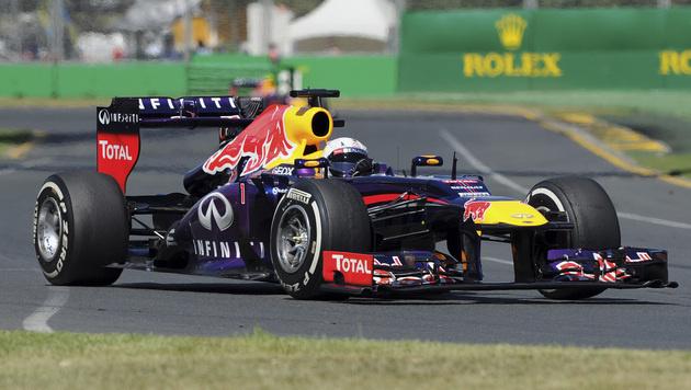 Sebastian Vettel am Freitag in Australien zweimal Schnellster (Bild: AP)