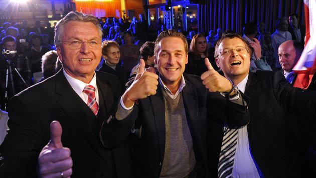 Strache schließt in Sbg Koalition mit SPÖ und ÖVP aus (Bild: APA/Robert Parigger)
