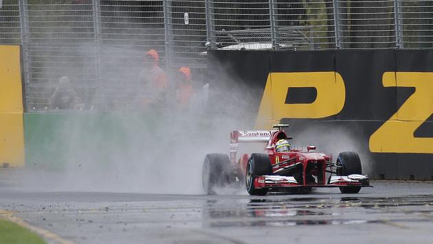 Qualifying wegen heftigen Regens abgebrochen (Bild: AP)