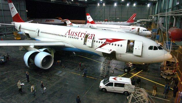 AUA-Airbus musste in Wien-Schwechat notlanden (Bild: APA/BARBARA GINDL (Symbolbild))