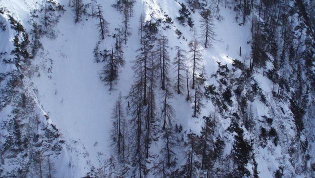Alpinist in Salzburg von zwei Lawinen mitgerissen - tot (Bild: APA/POLIZEI/FEST-SALZBURG)