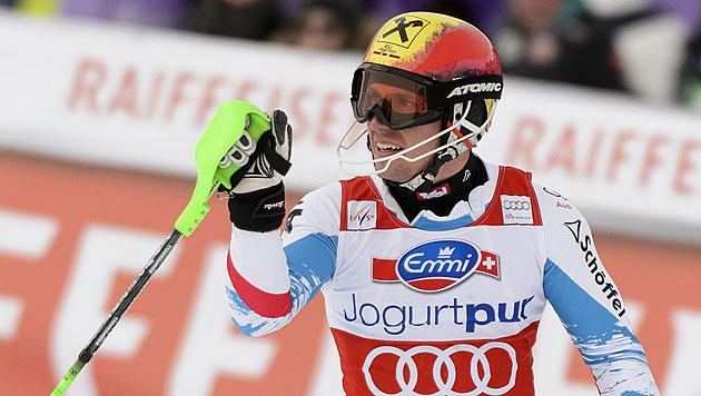 Neureuther gewinnt letzten Slalom der Saison vor Hirscher (Bild: AP)