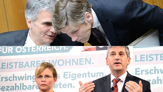SPÖ und ÖVP im Wahlkampf-Match ums Wohnen (Bild: APA/ROBERT JAEGER/HELMUT FOHRINGER)