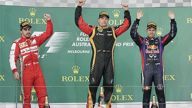 Überraschender Sieg von Räikkönen zum Saisonauftakt (Bild: AP)