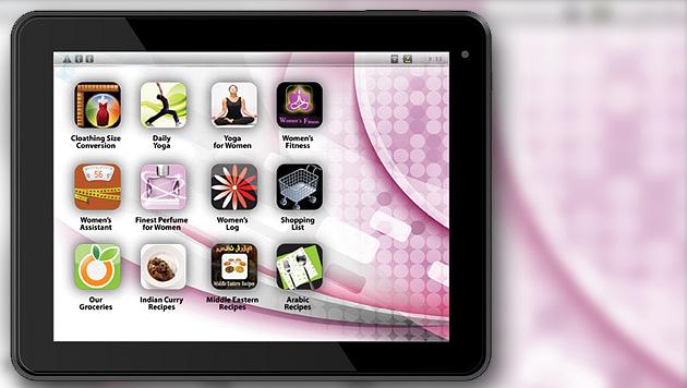 Das angeblich erste Tablet speziell für Frauen (Bild: Eurostar Group)