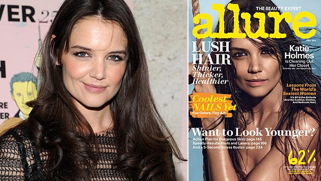 Katie Holmes zeigt auf Magazin-Cover sehr viel Haut (Bild: AP)