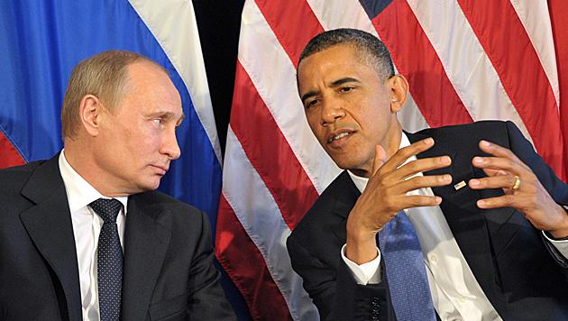 Russlands Präsident Wladimir Putin, US-Präsident Barack Obama (Bild: EPA (Archivbild))