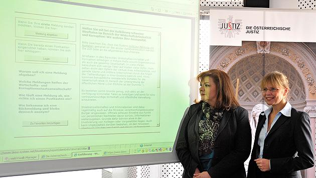 Ab sofort: Website für Bürger im Kampf gegen Korruption (Bild: APA/HANS PUNZ)