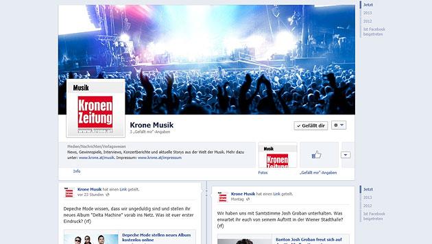Musik jetzt auch auf Facebook - werden Sie Fan!