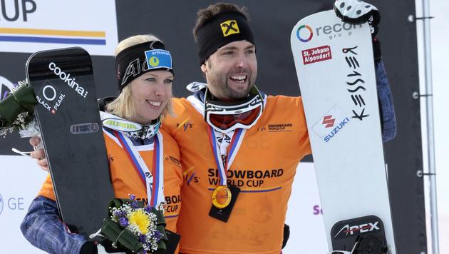 Prommegger holt sich Snowboard-Gesamtweltcup (Bild: AP)