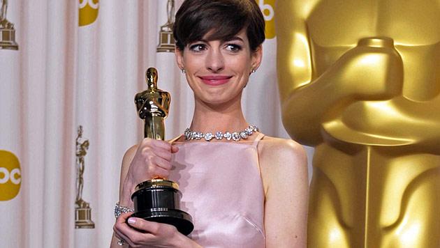 """Für ihre Rolle in """"Les Miserables"""" gewann Anne Hathaway 2013 den Oscar. (Bild: AP)"""