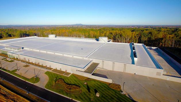 Rechenzentrum von Apple läuft komplett mit Öko-Energie (Bild: Apple)