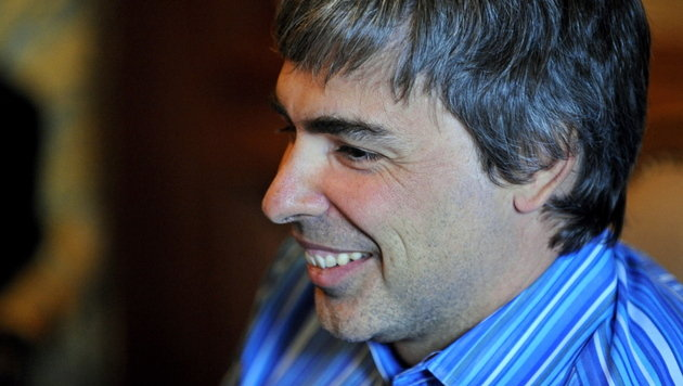 Herrscher des Google-Imperiums: Larry Page wird 40 (Bild: EPA)