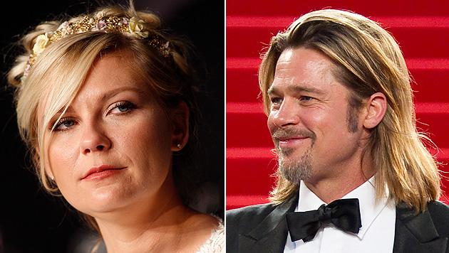"Kirsten Dunst fand Filmkuss mit Brad Pitt ""ekelhaft"" (Bild: EPA)"