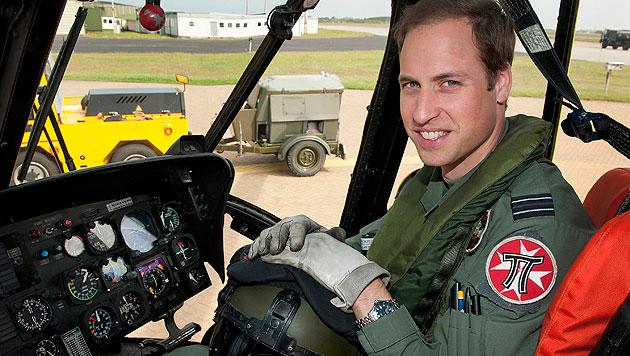 """William über Job als Pilot: """"Es gibt keine höhere Berufung"""" (Bild: EPA)"""