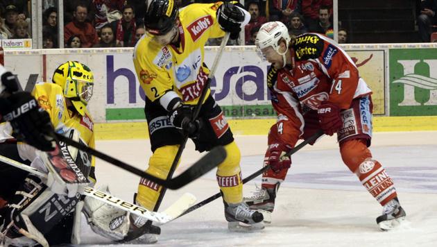 KAC stellt mit Sieg über die Vienna Capitals auf 2:0 (Bild: APA/GERT EGGENBERGER)