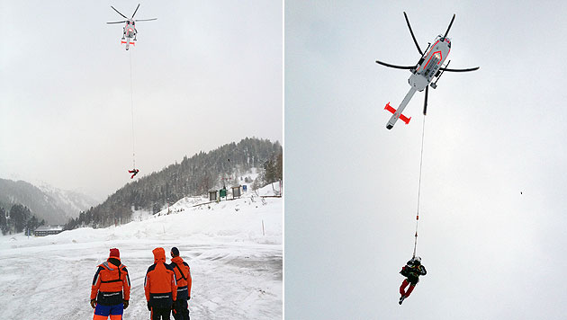 Skilehrer nach vier Stunden unter Lawine gerettet (Bild: APA/Bergrettung/C. Weesjes)