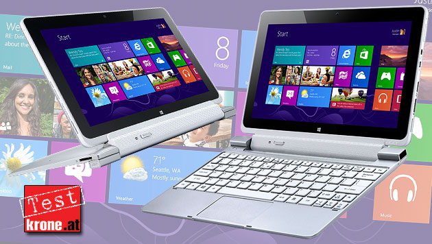 Acer Iconia W510: Der Windows-8-Dauerläufer im Test (Bild: Acer, krone.at-Grafik)