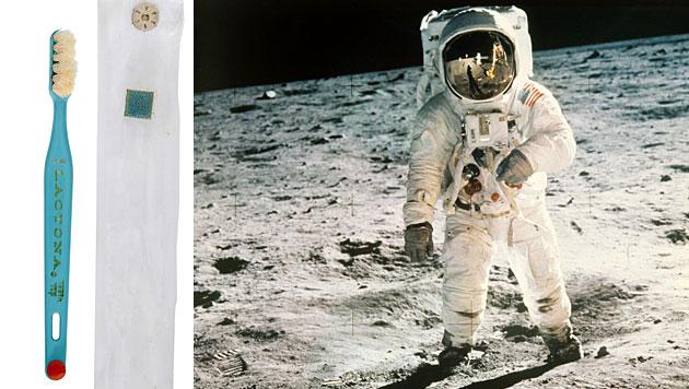 Mond-Zahnbürste von Buzz Aldrin wird versteigert (Bild: Heritage Auctions, NASA)