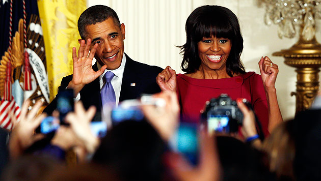 Obama schließt Kandidatur seiner Frau Michelle aus (Bild: AP)