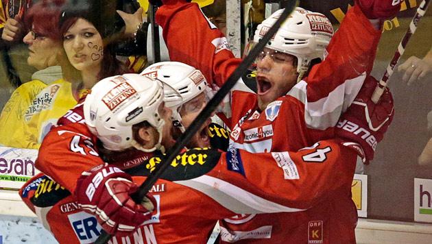 5:3 gegen Capitals - KAC zum 30. Mal Eishockey-Meister (Bild: APA/Gert Eggenberger)
