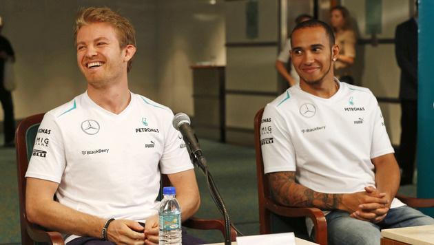 Nico Rosberg hakt Stallorder-Streit mit Lewis Hamilton ab (Bild: AP)