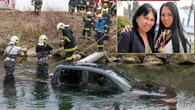 OÖ: Auto stürzt in Fluss - Mutter und Tochter gerettet (Bild: APA/FOTO-KERSCHI.AT/Werner Kerschbaummayr, Markus Wenzel)